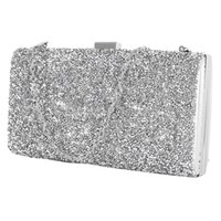 Wholesale bling clutch bags resale online - Women Evening Bag Luxury Black Silver Wedding Party Bag Diamond Rhinestone Clutches Crystal Bling Gold Clutch Purses