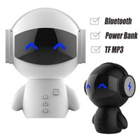Wholesale Smart Car Radio Bluetooth - DingDang Cute Robot Smart Blueototh Speaker Power Bank Portable Cartoon Speakers Super Bass Stereo Music Call Car Handsfree TF MP3 AUX M10