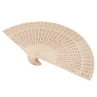 Wholesale Japanese Fans For Weddings - Wholesale- 150Pcs Free Shipping Chinese Japanese Sandalwood Folding Hand Fan Personalized Wedding Favor And Gift For Guests+Customized Logo