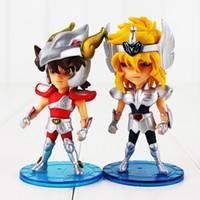 Wholesale zodiac toys figures for sale - Group buy Anime Manga Set Knights Of The Zodiac Saint Seiya Pegasus Action Figure Toy Hyoga Unicorn Jabu Dragon Shiryu Andromeda Shun Masami