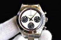handgolduhren für männer großhandel-Vintage 6239 6240 6263 Paul Newman 37mm Best Edition ST19 manuelle Handaufzug paulnewmen Herrenuhr Armbanduhr Chronograph Edelstahl