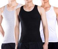 erkekler yeni modayı kazandı toptan satış-Ücretsiz kargo yeni stil yaz saf pamuk yelek erkek tankı üstleri kolsuz Tişört moda spor yelekler Boyutu: XL-XXXL liqinghui2011