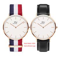 relojes unisex montre al por mayor-Daniel Watch Top Luxury Mens Relojes Mujer Famoso Diseñador Oro 40mm 36mm Señoras Pareja Unisex Relojes de pulsera Montre de luxe