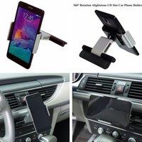 gps inch mount für auto großhandel-Neue Auto Aluminium CD Slot Halter Halterung für iPhone Samsung Handy GPS 3,5-5,5 Zoll Universal
