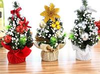 ingrosso giocattoli decorativi per ufficio-New Festive Buon albero di Natale Camera da letto Decorazione scrivania Giocattolo bambola regalo Ufficio Casa Bambini Natale Ingrosso Decorazioni natalizie per la casa