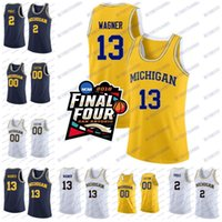 Wholesale men s basketball 13 for sale - Michigan Wolverines Moritz Wagner Poole Charles Matthews NCAA College Basketball Final Four Jersey Stitched