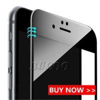 iphone ekran koruyucusu tasarımları toptan satış-Iphone xs için xr x 8 7 artı temperli cam 3d tam kapak ekran koruyucu karbon fiber tasarım 9 h yumuşak kenar koruyucu film