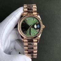 relojes de lujo aaa al por mayor-2018 Nuevo AAA de Lujo de Lujo Correa de Acero Inoxidable de Los Hombres Movimiento Automático Wristband Sunday Calendar Deluxe Caja de Regalo Reloj