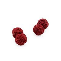 düğüm şeklinde mücevherat toptan satış-Ipek Düğüm Kol Düğmeleri Lüks Erkekler Klasik Çift Halat Top Düğüm Şekli Kol Düğmeleri El Yapımı Ipek Knot Manşet Bağlantı Takı Erkekler Için 10 pairs