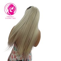 Wholesale white blonde human hair wigs resale online - Fantasy Brazilian Remy Hair Full Lace Wig Blonde Ombre Lace Wig Human Hair Pre Plucked Natural hairline for White women