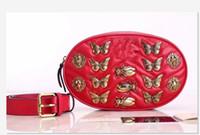 Wholesale Handy Travel Bag - 2017NEW pu G @ G Insects Waist Bags women Fanny Pack bags bum bag Belt Bag Women Money Phone Handy Waist Purse Solid Travel Bag