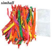 globos de aire largos al por mayor-Globo globo 50 unids Latex Air Balloons Rocket Ballon Colores surtidos Long Ballet Balloons con tubo de plástico Suministros de fiesta de cumpleaños