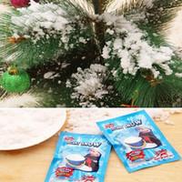 sihirli toz partisi toptan satış-10 Paketleri Sihirli Kar DIY Anında Yapay Kar Toz Simülasyon Kar Prop Parti Noel Dekorasyon çocuk Çocuk hediye yapmak