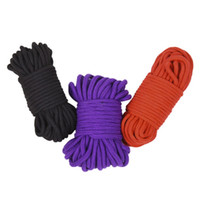 Wholesale thick red rope - 20 M Long Thick Cotton Fetish Sex Restraint Bondage Rope Slave Body Harness BDSM Sex Products Sex Toys For Adult Game Black Red Purple Pink