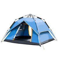 Wholesale blue hydraulics - Outdoor 3-4 people tent hydraulic square top automatic speed open three travel equipment anti-UV anti-rain camping tent