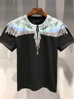 Wholesale letters magazine - 18ss new Marcelo Burlon T-Shirt Men Milan MB Feather Wings T Shirt Men Women Couple Fashion Show RODEO MAGAZINE T Shirts Goros camisetas