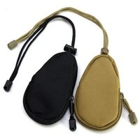 Wholesale Nylon Key Pouch - Outdoor Sport Mini Bag Zipper Roomy Purse Car Key Wallet Pouch Tactical Military Purse Pocket Chains Case Holder Coin storage bag EEA22