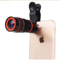 teleskop mobil für iphone großhandel-8x Zoom Optisches Telefon Teleskop Portable Handy Tele Kamera Objektiv und Clip für iPhone Samsung HTC Huawei LG Sony Etc