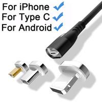 ingrosso cavo di carica del fulmine-Cavi magnetici USB per cavo USB di ricarica SUNPHG Micro Tipo C 1 In 1 Elettromagnete portatile blu per carica veloce