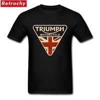 Wholesale vintage clothes for men - Craked Union Jack Triumph Motorcycle Shirt UK Flag Clothing Men T Shirt Men's Vintage Tee Tops Branded Gifts for Valentines Day