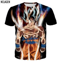 Wholesale Dragon Ball Z Son Goku - Nclagen Men 3d T Shirt Dragon Ball Z Ultra Instinct Son Goku Super Saiyan God Blue Vegeta Print Cartoon Summer Top Tee Shirt 5xl