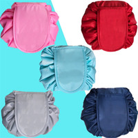 Wholesale wire pouch resale online - Portable Travel Makeup Pouch Magic Pulling Rope Large Capacity Lazy Cosmetic Bag Women Multi Color Storage Bags jsa Y