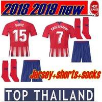 Wholesale cotton short socks - Top Quality 2018 2019 GRIEZMANN CARRASCO adult man Football jersey F.TORRES KOKE CORREA SAUL 18 19 football shirt football kit with socks