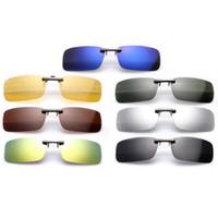 clip nachtsichtbrille großhandel-50 stücke der neuen männer frauen Sonnenbrillen Polarisierte Linse Clip-on Flip-up clip auf Sonnenbrille Nachtsichtbrille brille clip 10 farben