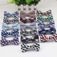 ingrosso usura del partito dei neonati-16colors Cute Baby Boys Cravatte Grid Plaid Bowknot Accessori per bambini Abbigliamento da festa Moda classica Controllare i bambini Tie Bow
