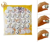 Wholesale cell phone strap bread - New 30PCS WholesaleNew 4cm Panda Squishy Kawaii Buns Bread Charms Key Bag Cell Phone Straps