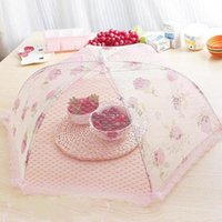 guarda-chuvas de comida venda por atacado-KitchenTool Umbrella Food Cover Picnic Churrasco Festa Fly Mosquito Lace Anti Mosquito Food Protector Cobre