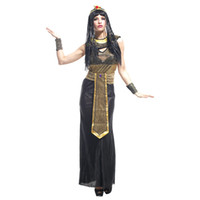 Wholesale Women Cleopatra Costume - Deluxe adult woman halloween sexy fancy dress party costume sex cosplay egyptian cleopatra costume for girls