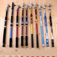 Wholesale spinning lure rod online - Carbon Telescopic Fishing Rod Portable Pole Spinning Hand Sea Boat Fish Rods Line Lures Bait Hook Tackle hk jj