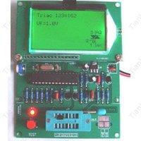 ingrosso componenti del transistore-Tester transistor Freeshipping GM328 M328 / tabella ESR / LCR / frequenzimetro / onda quadra PWM generi 1Hz-2MHz. Componente Combo digitale