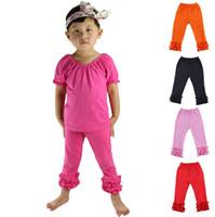 çocuklar renginde tozluklar toptan satış-Moda yeni kızlar fırfır pantolon Bebek Isıtıcı Tayt Tayt çocuk Pantolon pamuk Pantolon 10 stilleri en kaliteli