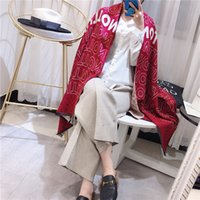 Wholesale thick headbands online - New Luxury Cashmere blended Autumn Winter Scarf Women Big Size Long Scarves Women Cashmere blende Scarf Thick Shawls New Brand L9184