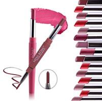 Double-end Lasting Lipliner Waterproof Lip Liner Stick Pencil 8 Color Multi-function Lip Liner Lipstick Lip Gloss