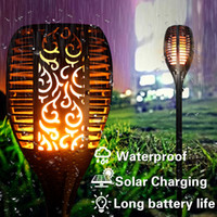 Wholesale Waterproof Flame Flickering Landscape Garden Lamp Torch Light Auto recharging LED Solar Lamp Outdoor Modern Decor Lighting Lamp