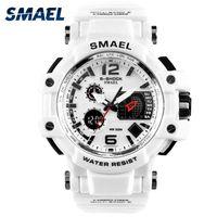 Wholesale Men S Sport Clock - SMAEL Men Watches White Sport Watch LED Digital 50M Waterproof Casual Watch S Shock Male Clock 1509 relogios masculino Watch Man