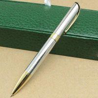 design de pacote único venda por atacado-Design exclusivo de Luxo caneta esferográfica de metal Versão Clássica escritório da escola papelaria caneta carteira titular carteira High-end pacote caixa de presente