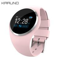 ingrosso la frequenza cardiaca controlla le donne-KARUNO Q1 Schermo a colori Smart Watch Wristband Blood Pressure Monitor di frequenza cardiaca Tracker Fitness Uomo Donna Bracciale Smartwatch