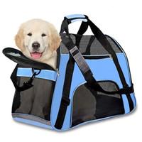 airline taschen großhandel-Hot Sell Dog Carrier Taschen für kleine Hunde Haustiere Tragetaschen Hunderucksack Airline aproved Carriers Crate