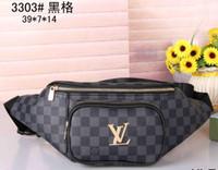Wholesale female sport bags resale online - high quality women leather zipper waist bag men fashion sport travel bag female Cross body bag