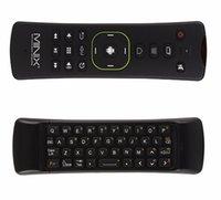 minix maus großhandel-Original MINIX NEO A3 Drahtlose Air Maus mit Spracheingabe QWERTY Tastatur Sechs-Achsen Gyroskop Remot für MINIX Media Hub TV Box