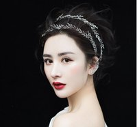 Wholesale baroque gown - Bridal ornaments, diamond drill hair bands, wedding gowns, soft headwear, New Baroque hair accessories