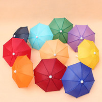 Wholesale toy semi for sale - Umbrella Mini Children Cartoon Bumbershoot Toy Prop Decorative Umbrellas Candy Color Straight Shank Bending Handle Easy Carry ZA5797