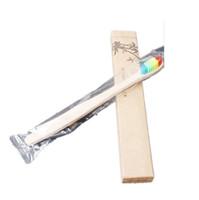 hotel de escova de dentes venda por atacado-Atacado Ambiente De Bambu Escova De Dentes De Bambu De Madeira Do Arco-íris Escova de Dentes Higiene Oral Cerdas Macias