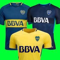 Wholesale Boca Juniors - Thailand 2017 2018 Boca Juniors Soccer Jerseys 17 18 GAGO CARLITOS HOME AWAY Football jersey shirts Boca Junior 17 18 camisetas de futbol