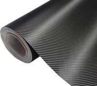 Wholesale vinyl wrap red - Carbon Fiber Vinyl Car Wrap Sheet Roll Film Car stickers and Decals Motorcycle Car Styling Accessories Automobiles 30cmx127cm