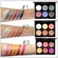 Wholesale mua lipstick - High Quality Shimmer Matte Earth Color popfeel 6 color eyeshadow ground Color Matte makeup disk EP6 cosmetics lipstick mor mua naked lorac